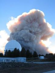 Fire near the Palomar Observatory