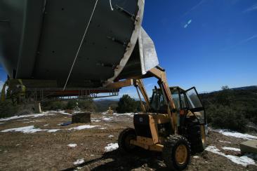 Palomar Observatory 155Mbps antenna