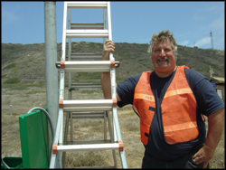 Jim Hale at Cabrillo site